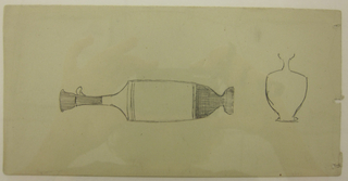 Drawing, Studies of Objects from Athens Museum, possibly 1869