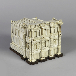 Model in the form of a seventeenth century Venetian palazzo.