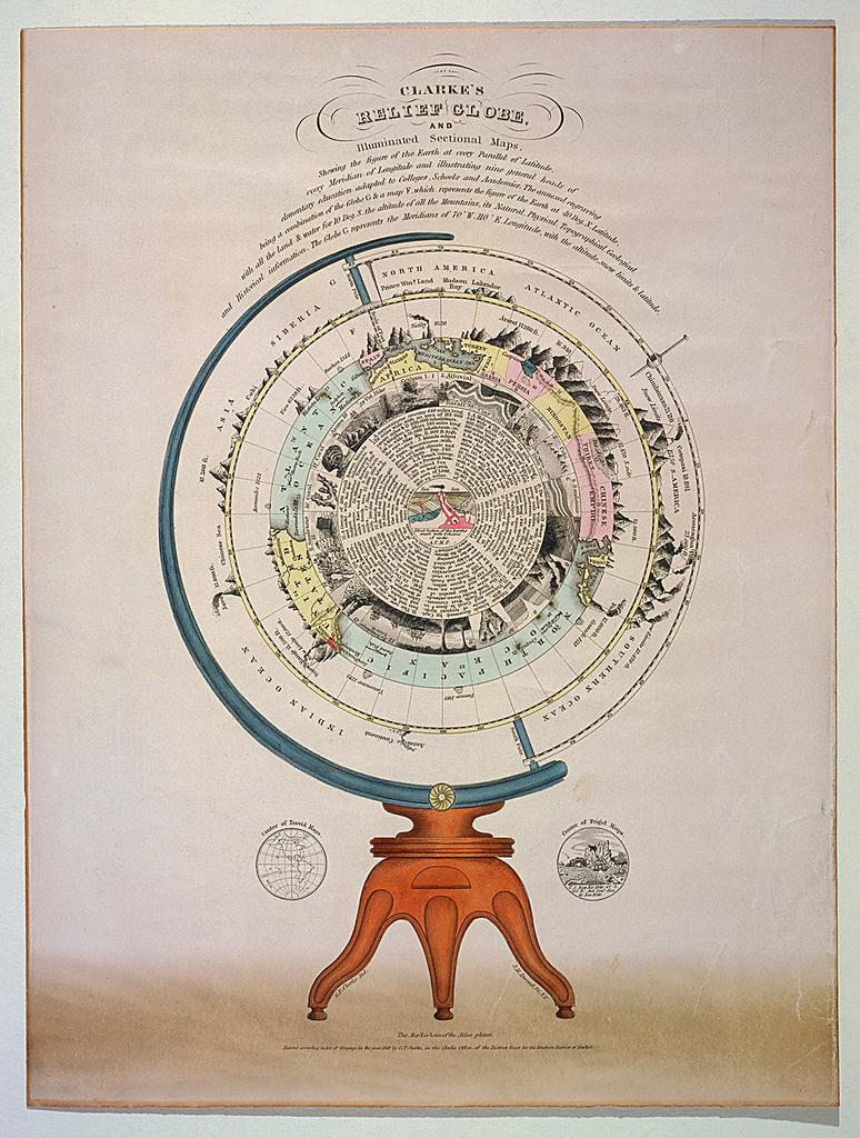 Print, Clarke's Relief Globe