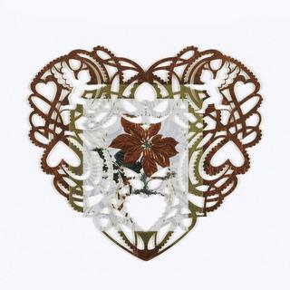 Heart-shaped lasercut Valentine's day card