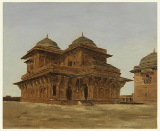 Drawing, Birbal's Palace, Fattipur Sikri (Fatehpur Sikri), India