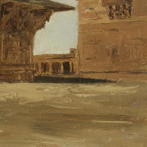 Drawing, Birbal's Palace, Fattipur Sikri (Fatehpur Sikri), India