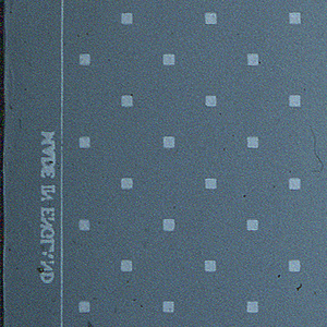 Rows of small, widely spaced, white squares in drop-repeating arrangement on pale blue-gray ground.