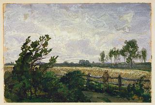 Album Page, Windswept Landscape