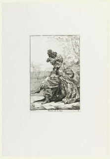 Print, Prestre de la Loy (The Priest of the Law), plate 9 from the series Caravanne du Sultan à la Mecque (Caravan of a Sultan Going to Mecca)