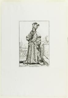 Print, Le Grand Seigneur (The Nobleman), plate 17 from the series Caravanne du Sultan à la Mecque (The Sultan's Caravan to Mecca)