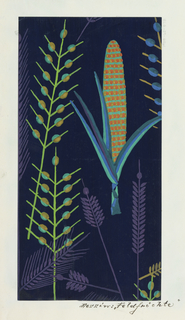 Drawing, Textile Design: Feldfrüchte (Produce of the Field)