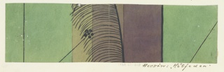 Drawing, Textile Design: Hutfeder (Feather on a Hat)