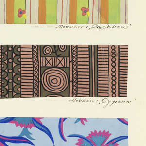 Drawing, Textile Design: Sachsen (Saxony)