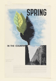 """Drawing, Design for """"Spring in the Country"""""""