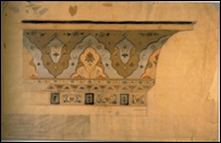 Drawing, Exterior Cornice, Dining Room, Olana, 1872