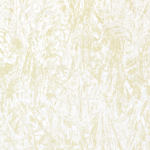 Diamond grid pattern of Queen's Anne's lace plants printed in white and pale green.