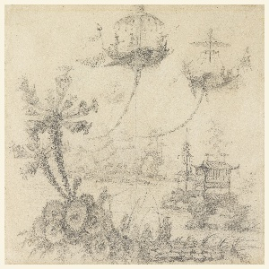 Drawing, Chinoiserie Fantasy