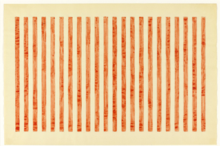 Twenty-two red vertical stripes on white background.