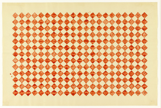Red diamond checkerboard pattern on white background.