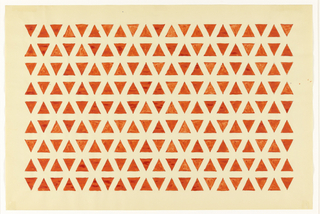 Alternating pattern of unconnected red triangles on white background.