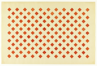 All over pattern of unconnected red diamonds on white background.
