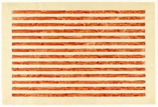 Fourteen red horizontal stripes on white background.