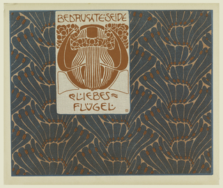 Print, Bedruchte Seide Liebes Flugel (Printed Silk Love Wings), plate 8, in Die Quelle: Flächen Schmuck (The Source: Ornament for Flat Surfaces)