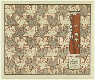 Print, Die Tausend Raben Vorsatz Papier (A Thousand Ravens Book End Paper), plate 11, in Die Quelle: Flächen Schmuck (The Source: Ornament for Flat Surfaces)