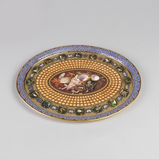 Tray, from a Breakfast Service (Plateau; Déjeuner Mosaïque Florentine) Tray