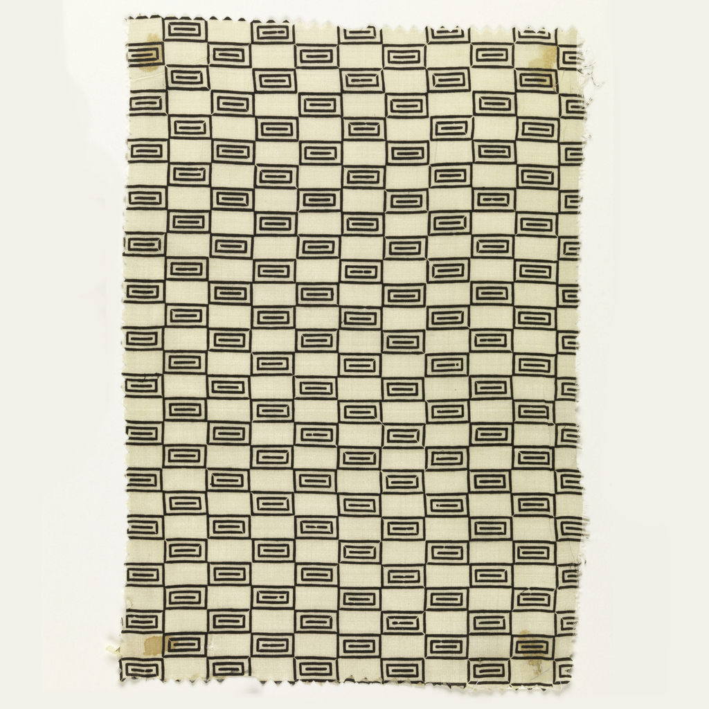 Checkerboard pattern alternating plain white rectangles with patterned rectangles in black on white.