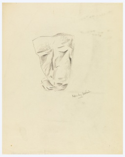 An abstracted face produced by a crumpled paper bag.