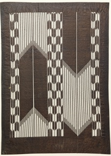 Katagami, Arrow Design Imitating Warp Ikat (kasuri)