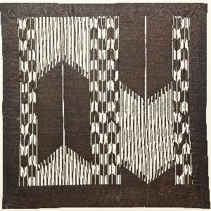 Katagami, Arrow Design Imitating Warp Ikat (kasuri)