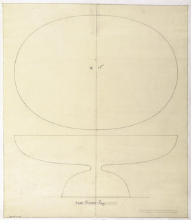 Drawing, Design for Oval Flower Cup