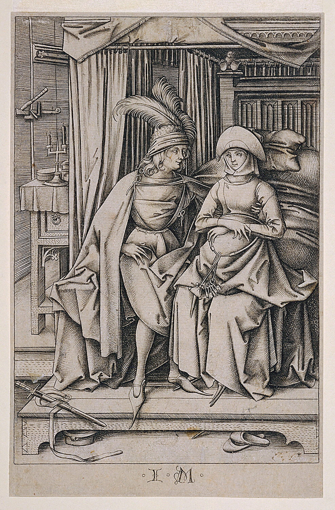 Print, A Couple Seated on a Bed