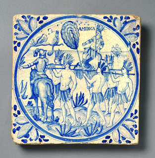 Allegories of the Four Continents Tiles
