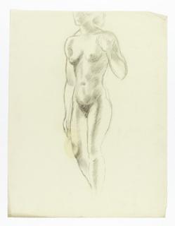Study of nude woman.