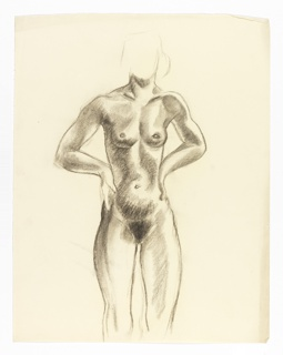 Study of nude woman.