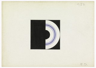 Drawing, Design for a Monogram: E. D.