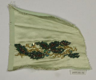Couture Embroidery Sample (USA), 1930s