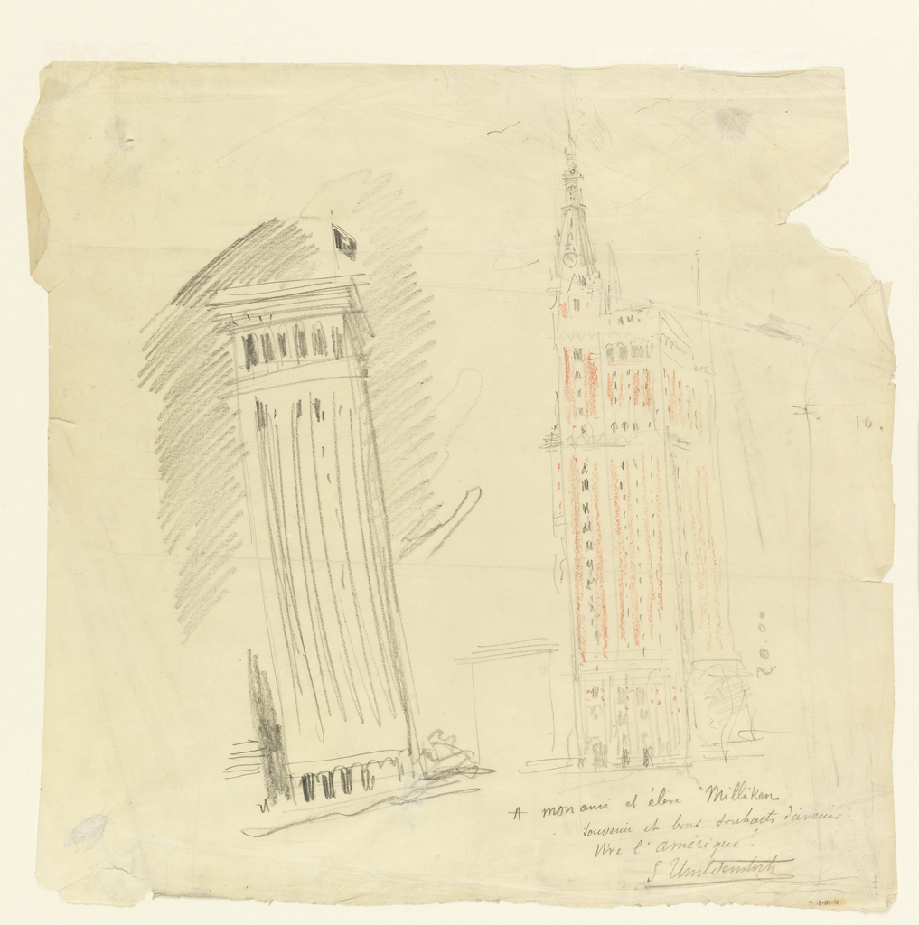 Drawing, Sketches of New York Skyscrapers