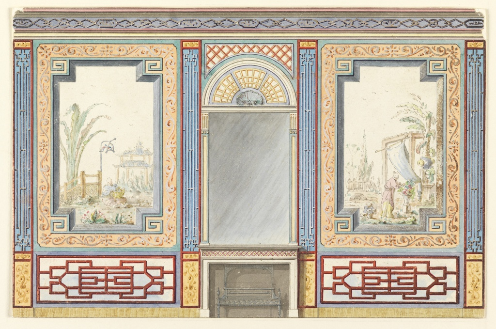 Drawing, Design for the Banqueting Room, Royal Pavilion, Brighton