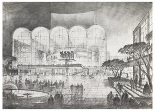 Print, Lincoln Center Plaza, New York, NY: Study
