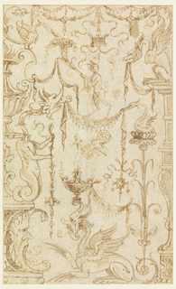 Drawing, Design for Grotesque Decoration