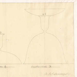 Drawing, Designs for Drinking Vessels, Covered Dishes, and Candle Holders