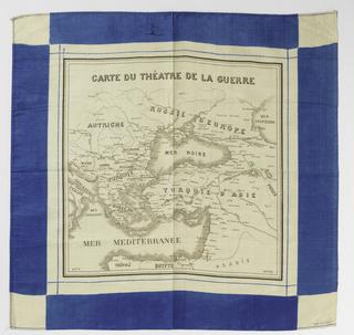 Handkerchief, Carte du Théatre de la Guerre