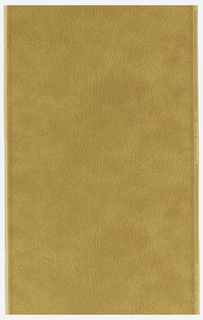 Paper embossed and printed to imitate unadorned brown leather.