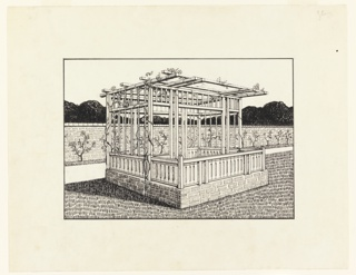 Drawing, Design for a Garden Pavilion