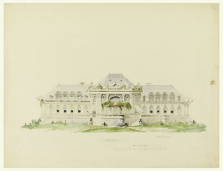 Drawing, Clubhouse and Golf Club, Newport, Rhode Island