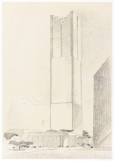 Drawing, Texas Commerce Bank Tower