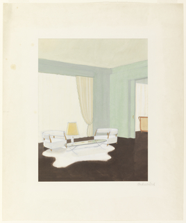 Drawing, Architectural Interior