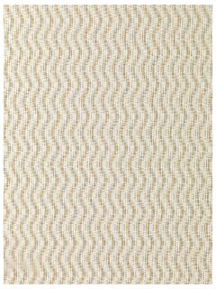 Partition fabric in natural and white paper; twill weave creates vertical wave pattern.