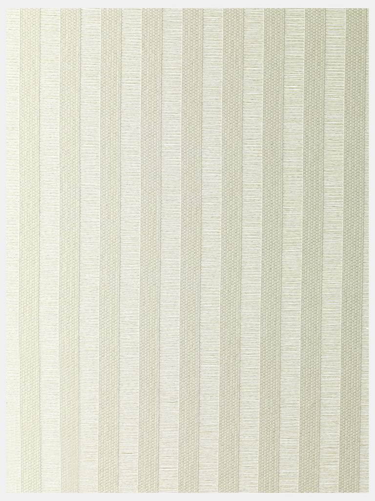 White fabric for blinds, vertical striped effect created by grouped warps