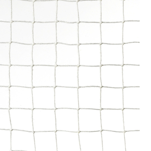 """Simple open net with square grid of yarns, in """"White"""" colorway."""